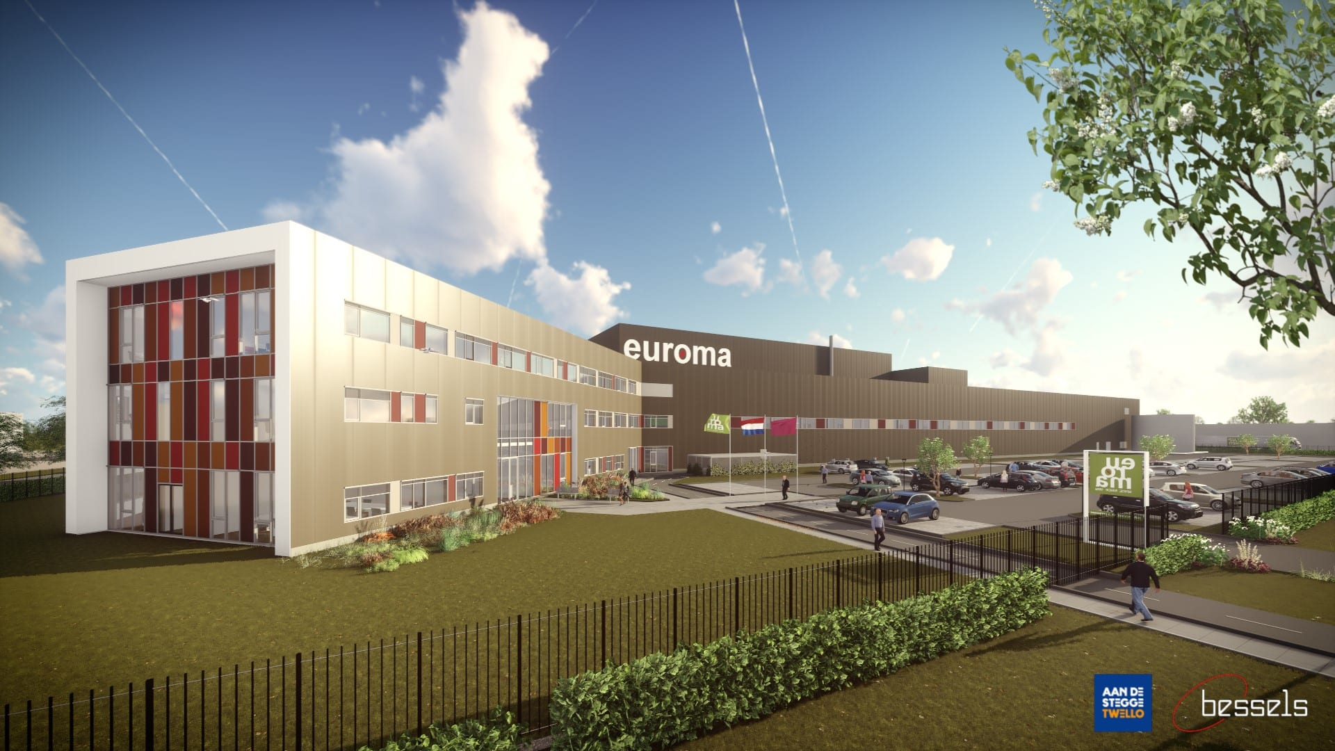 Nieuwbouw bedrijfspand Euroma Zwolle