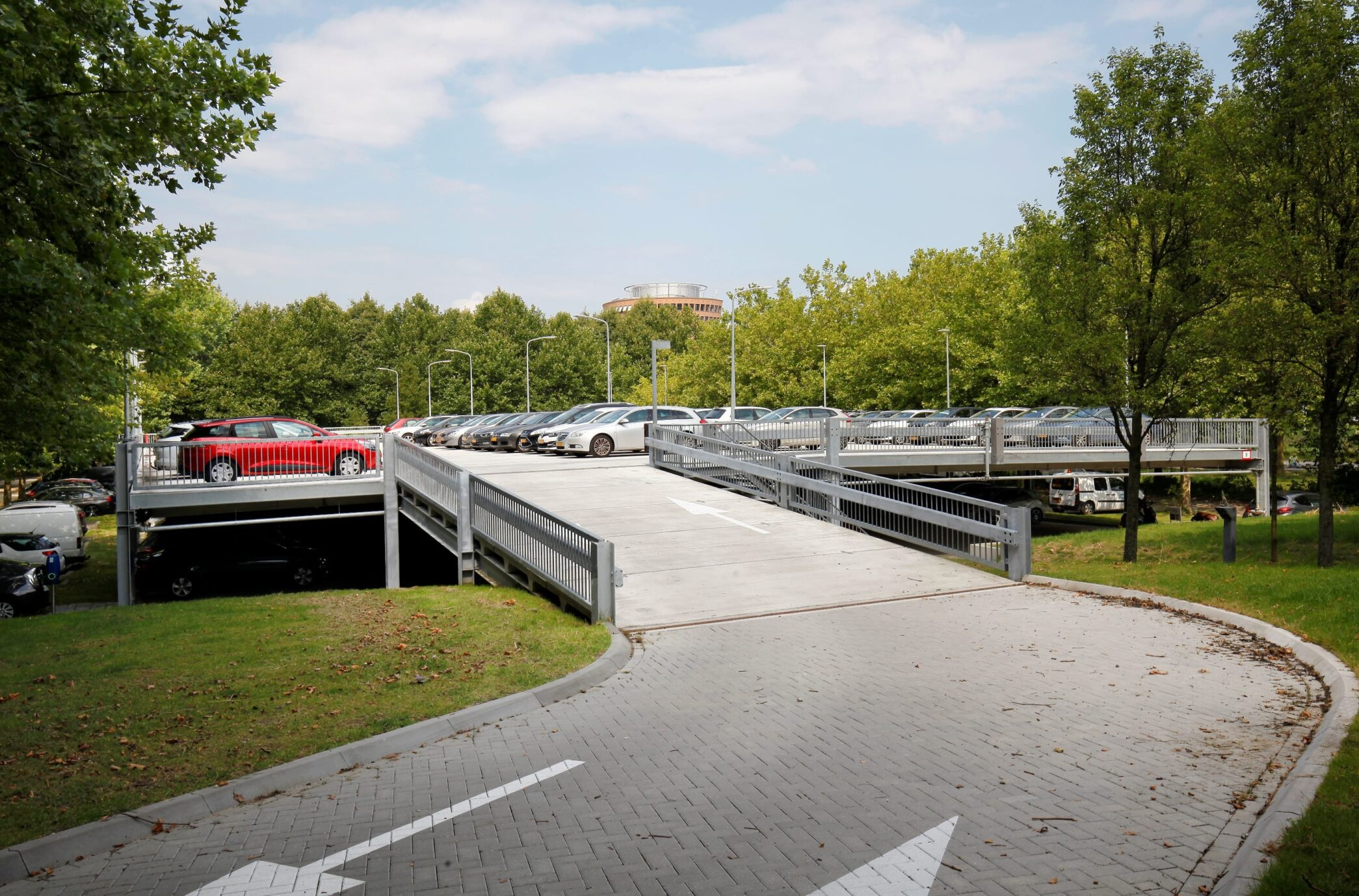 Demontabel parkeerdek ENGIE Zaandam