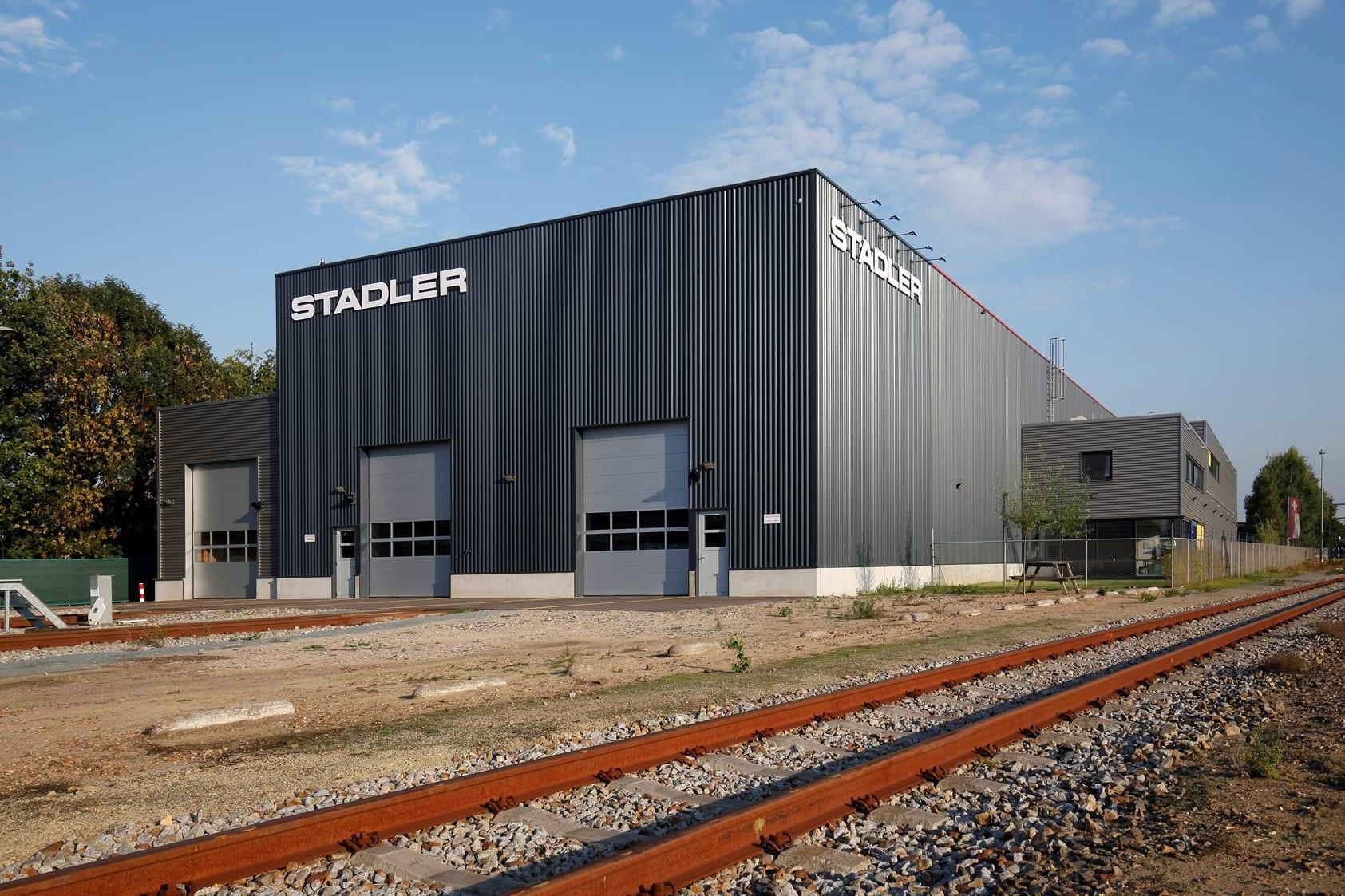 Nieuwbouw treinonderhoudshal Stadler Venlo
