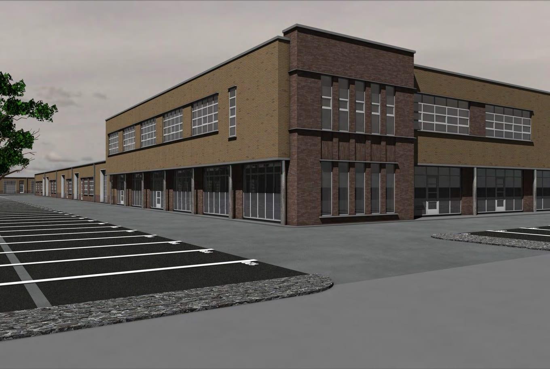Impressie bedrijfsverzamelgebouw Ceintuurbaan Zwolle