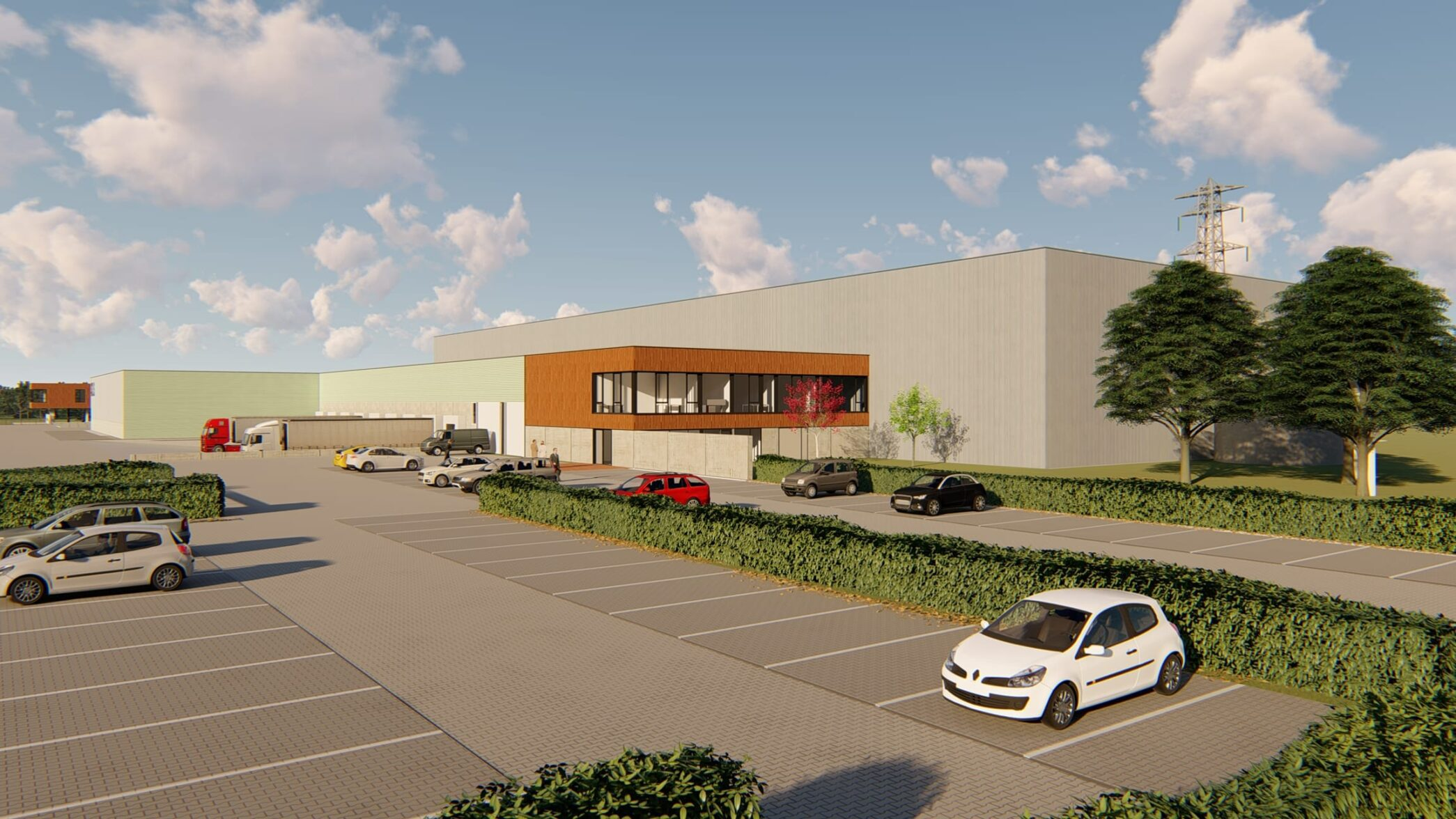 Impressie uitbreiding bedrijfspand Sils Logistics Apeldoorn