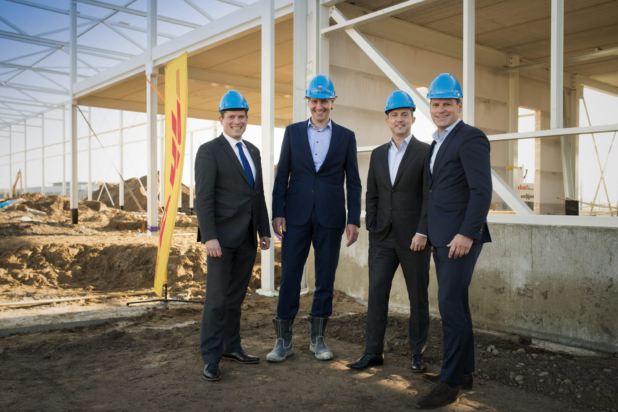Ground breaking ceremony nieuw sorteercentrum DHL Express Zwolle