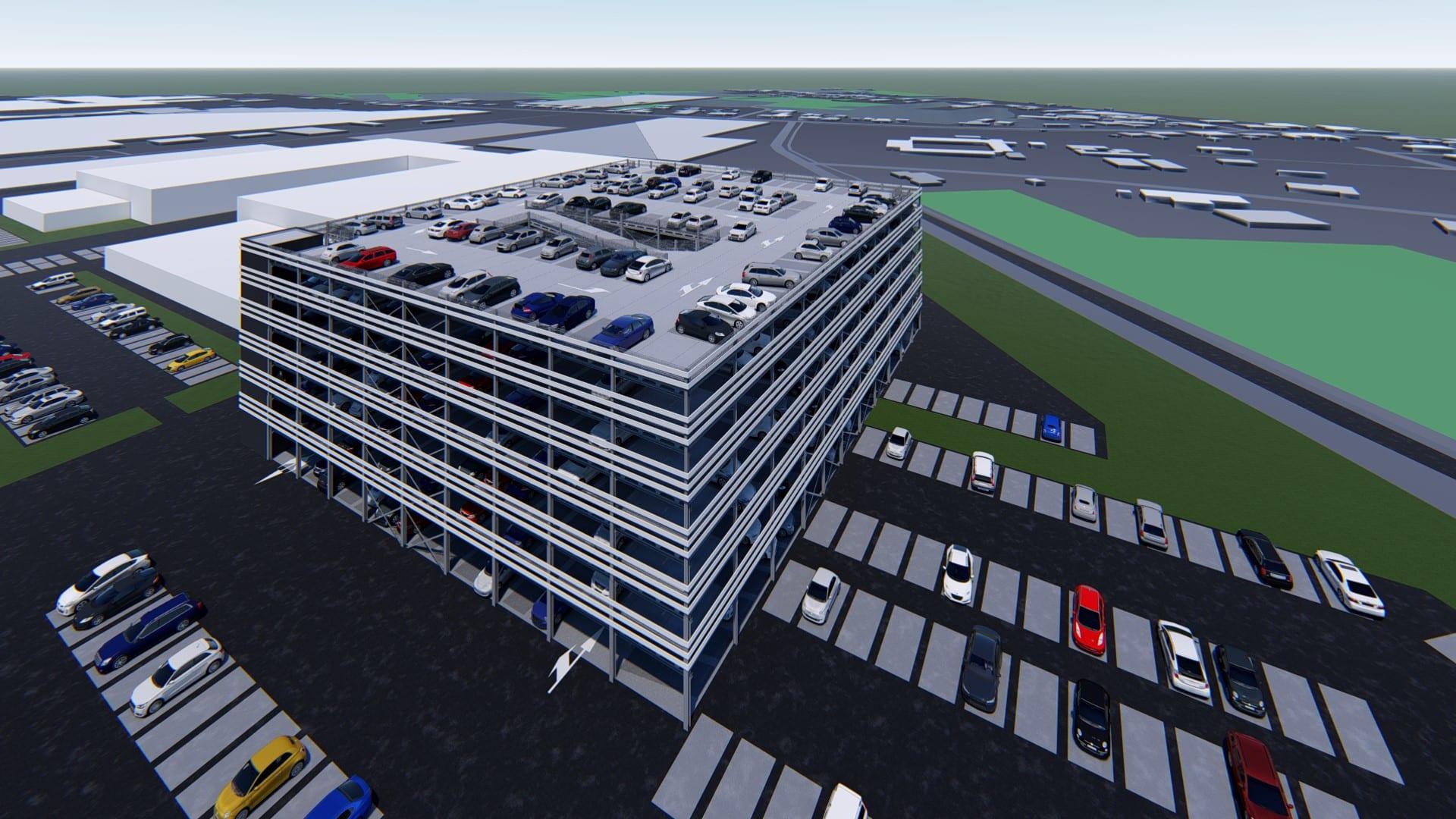 Impressie parkeertoren België