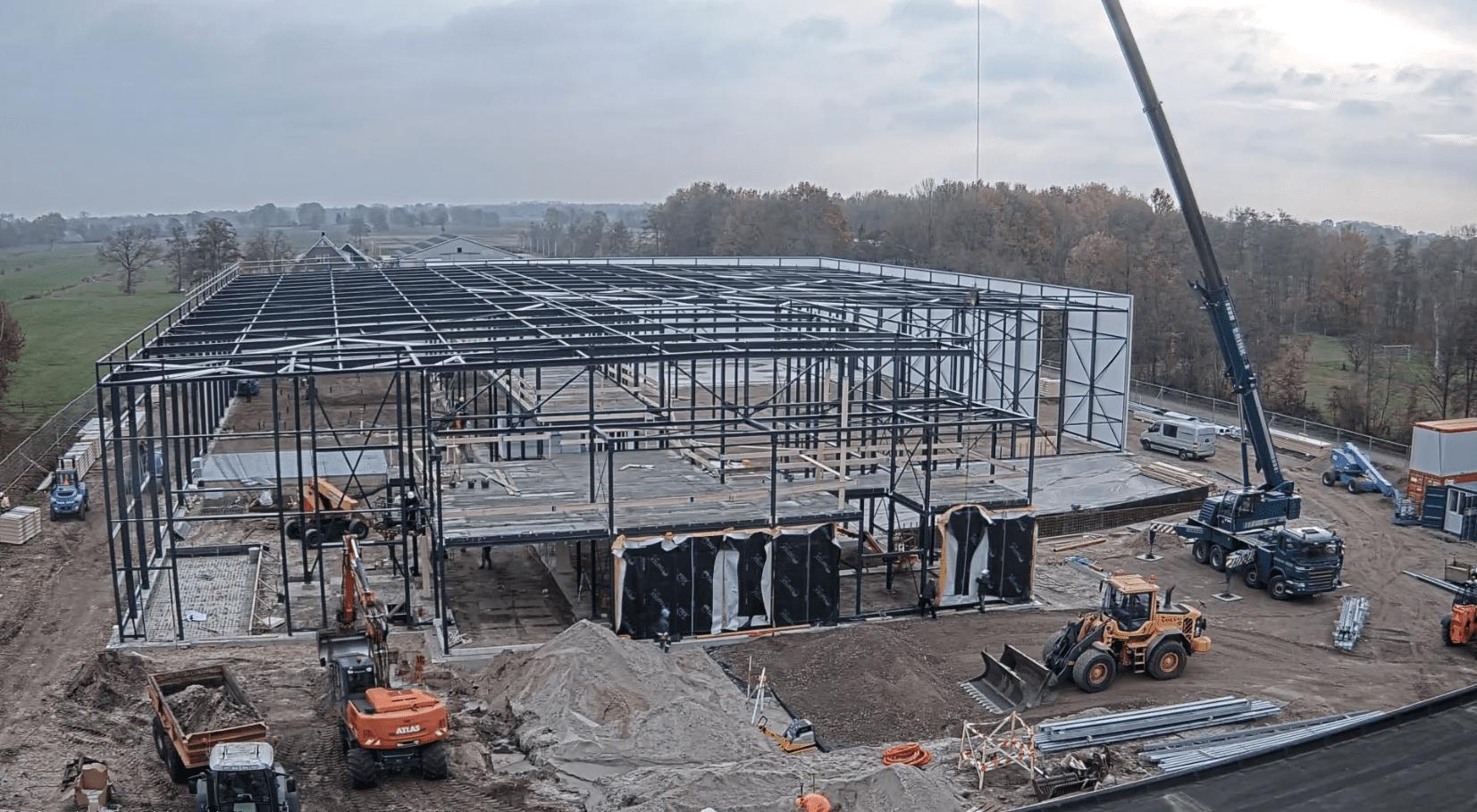 Voortgang bouw bedrijfspand Ruitenberg Ruinerwold