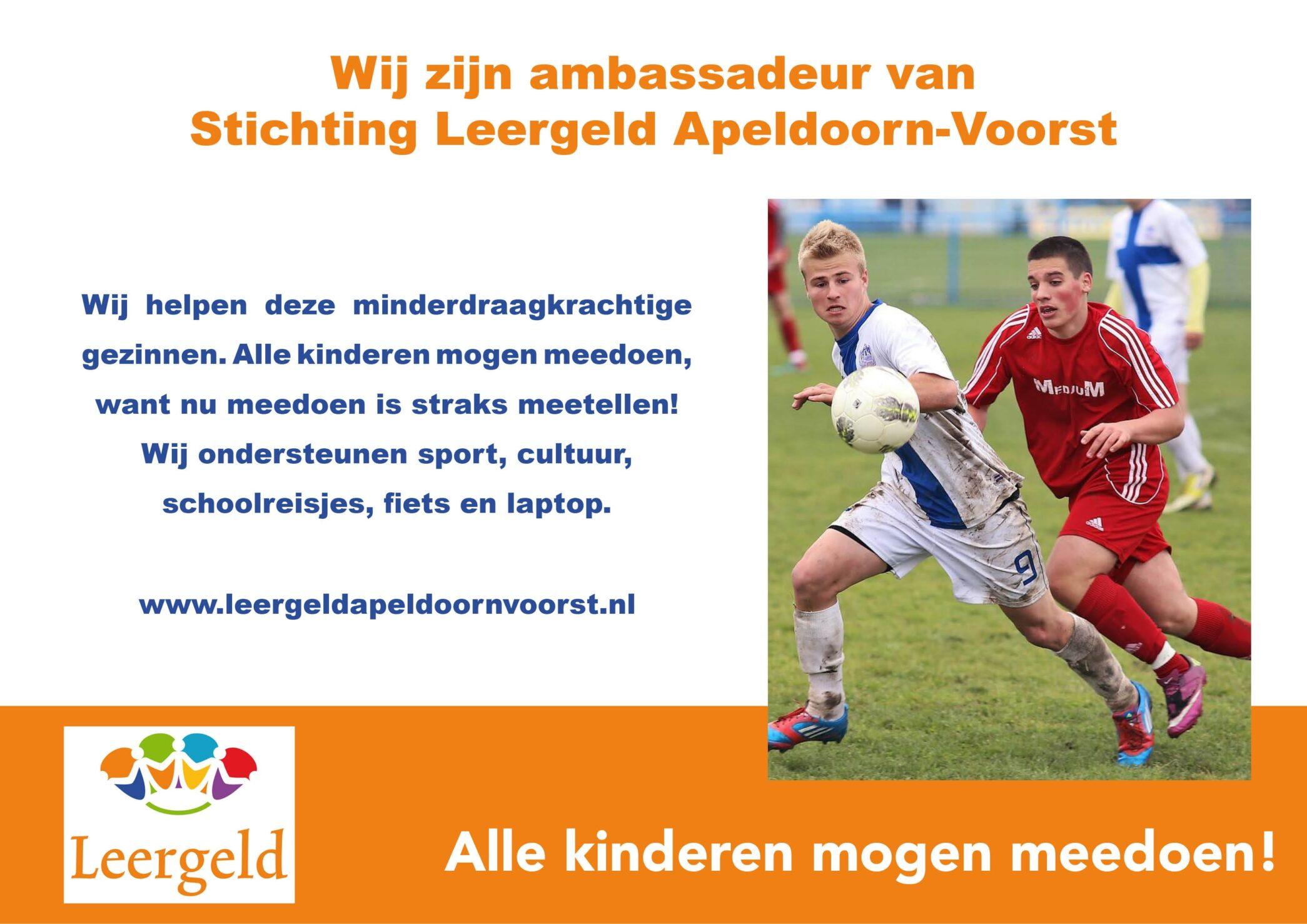 Aan de Stegge Twello ambassadeur Stichting Leergeld