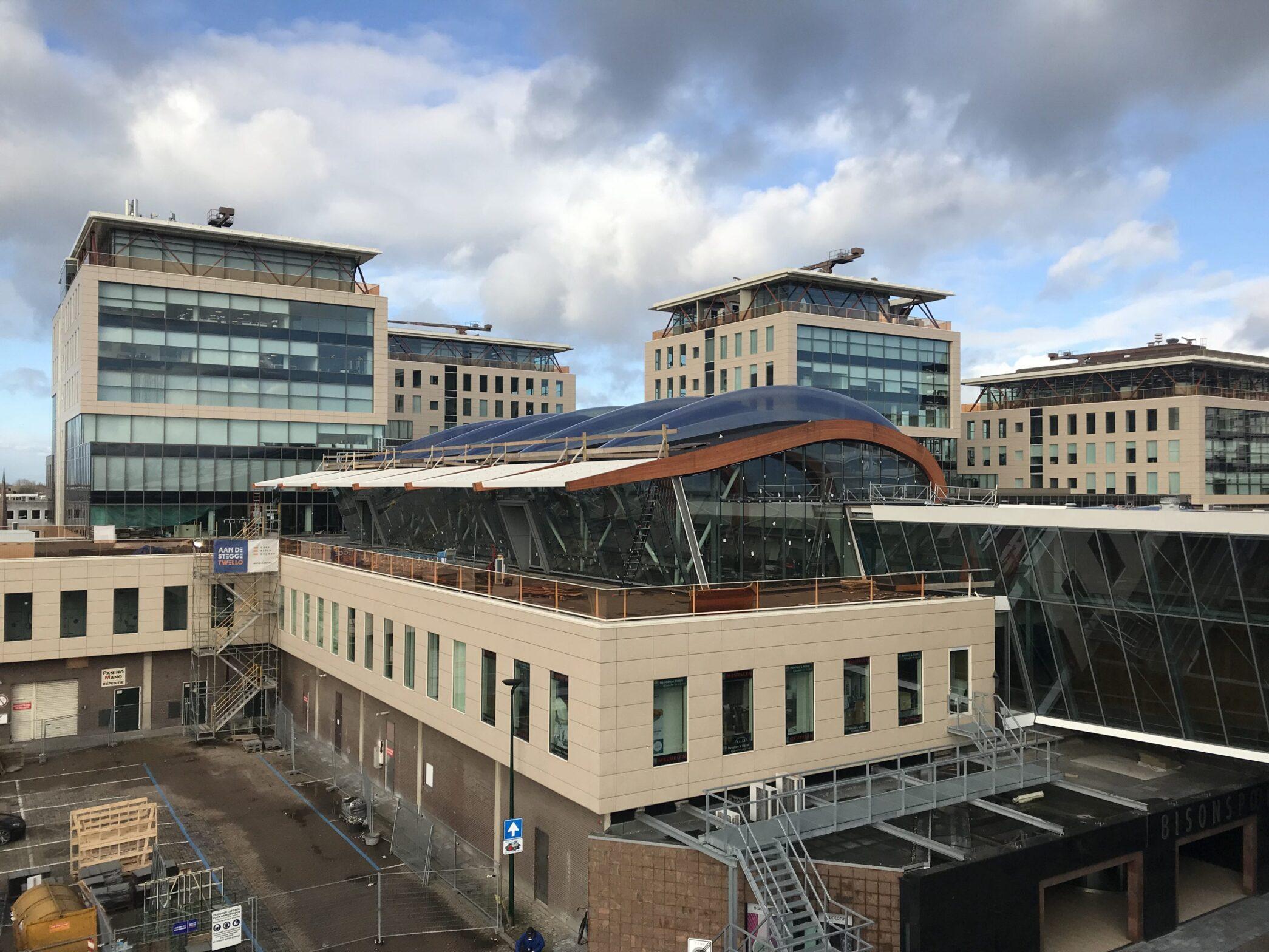 Voortgang bouw businesslobby Bisonspoor Maarssen