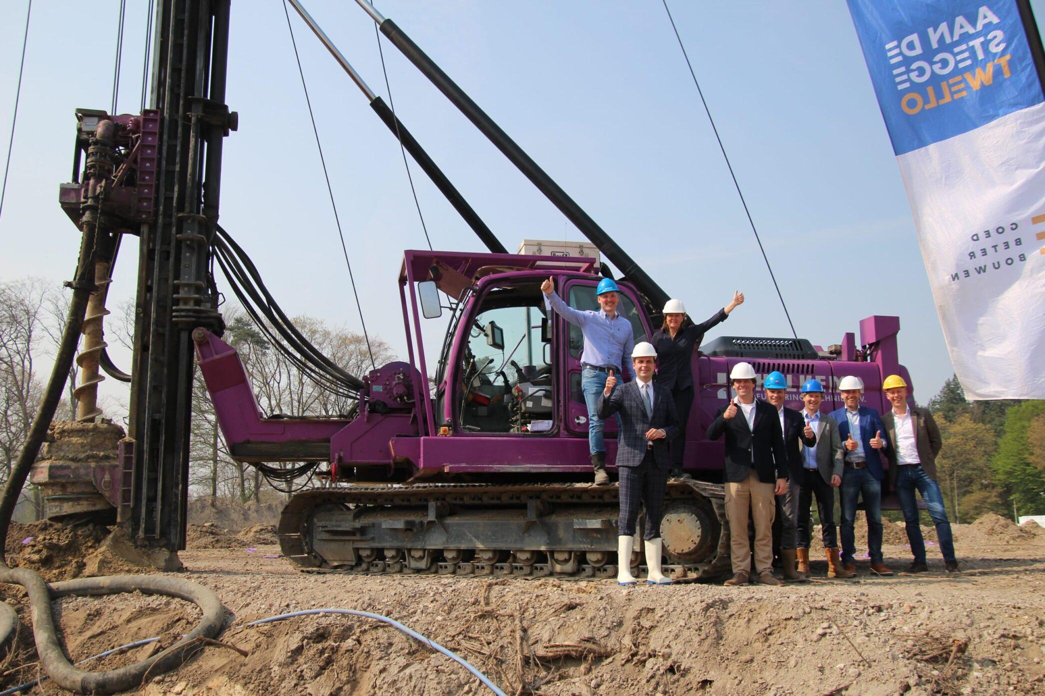 Eerste paal bouw PostNL Tilburg