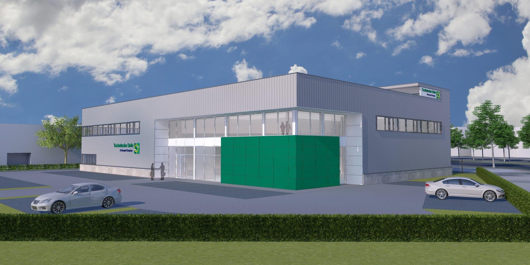 Impressie nieuwbouw Servicecentrum Technische Unie Den Haag
