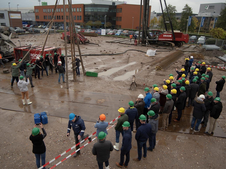 Eerse paal nieuwbouw Technische Unie Den Haag