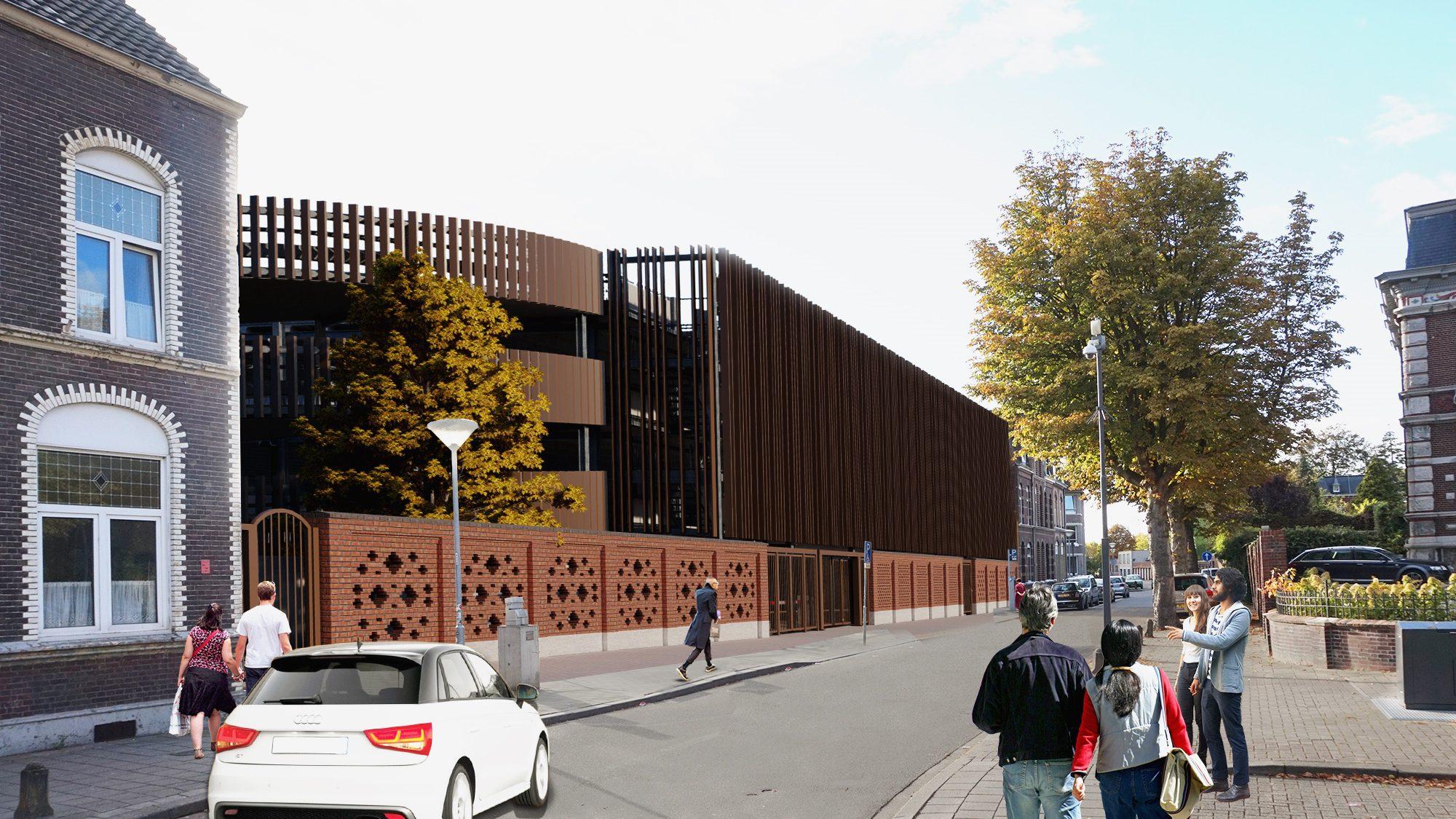 Impressie nieuw parkeergarage Noord-Buitensingel Venlo
