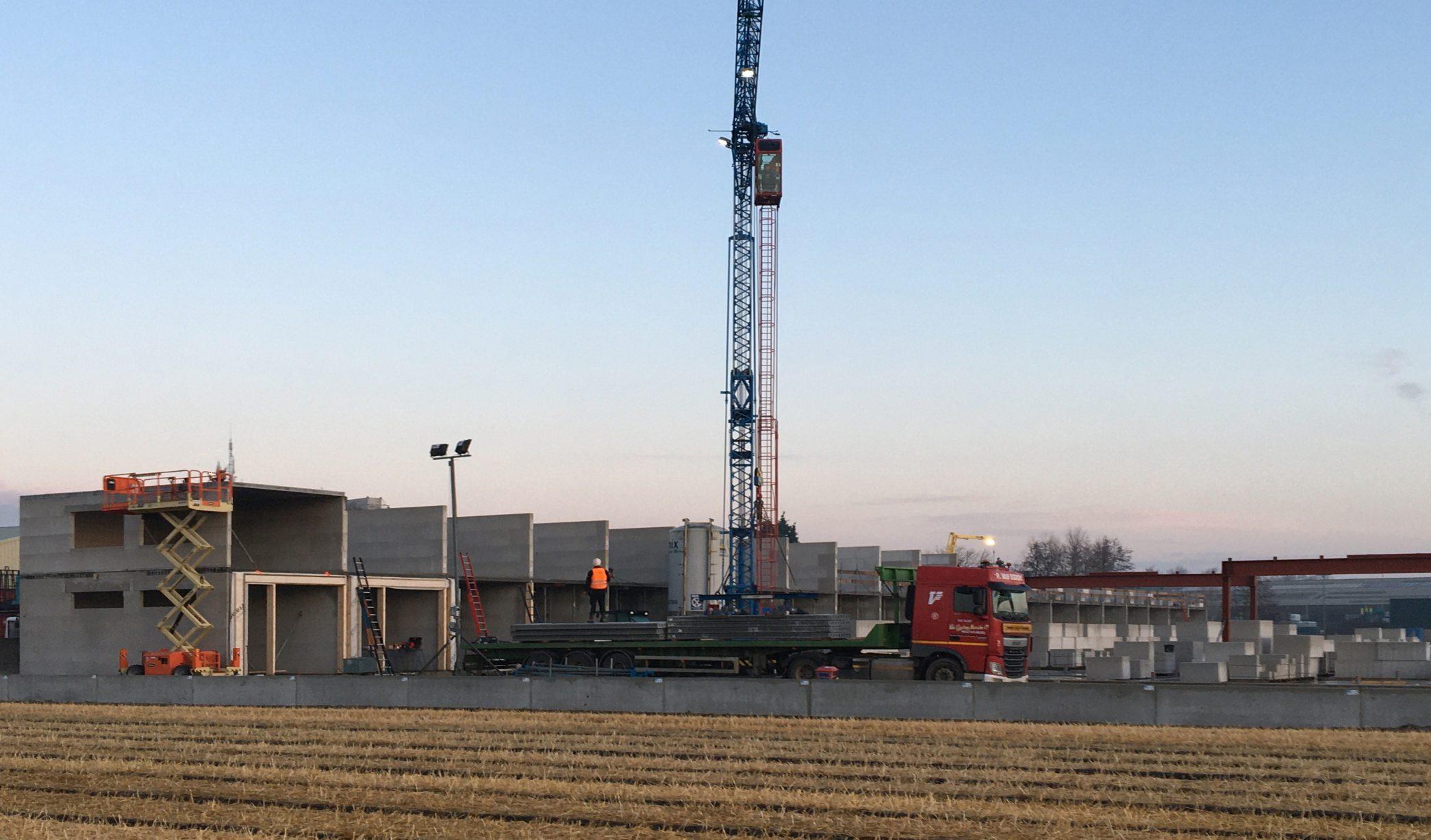 Voortgang bouw Trade Park Cruquius